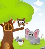 Illustration three with few animal Royalty Free Stock Image