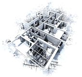 Architecture abstract stock illustration