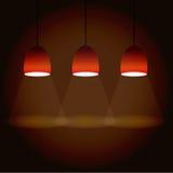Illustration of three lights Stock Photography