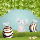 Mice with Easter eggs Royalty Free Stock Photos