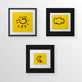 Illustration of three poster mock-ups Royalty Free Stock Image