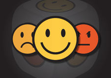 An illustration of three smiley faces Royalty Free Stock Images