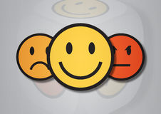 An illustration of three smiley faces Royalty Free Stock Photos