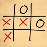 illustration tic tac toe XO game Royalty Free Stock Photography