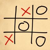 illustration tic tac toe XO game Royalty Free Stock Image