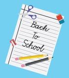 Illustration tillbaka till skolan - plan design Royaltyfri Fotografi