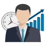 Illustration of time management theme. Stock Photo