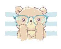 Illustration tirée par la main d'illustration de vecteur d'ours de Teddy Bear Illustration Libre de Droits