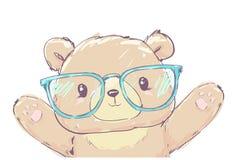 Illustration tirée par la main d'illustration de vecteur d'ours de Teddy Bear Illustration de Vecteur
