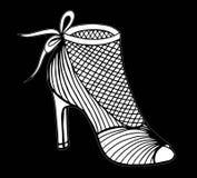 Illustration tirée par la main de chaussure de talon haut Images stock