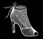 Illustration tirée par la main de chaussure de talon haut Photographie stock