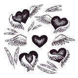 Coeur Avec Des Ailes D Ange Stock Illustrations Vecteurs Clipart