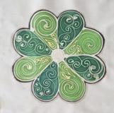 Illustration tirée par la main de FLEUR - textile de batik Photographie stock