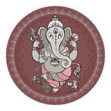Illustration tirée par la main de Ganesha Photos libres de droits