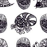 Illustration tirée par la main de modèle sans couture de la collection de délicatesses exquises des cuisines du monde L'ensemble  illustration libre de droits