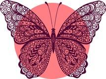 Illustration tirée par la main de papillon de griffonnage de vecteur illustration stock