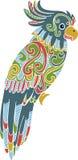 Illustration tirée par la main de perroquet de griffonnage de vecteur illustration de vecteur