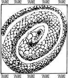 Illustration tirée par la main de serpent Images stock
