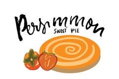 Illustration tirée par la main de tarte doux de Persimonn pour vous Photos libres de droits