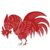 Illustration tirée par la main de trame de coq rouge Images libres de droits