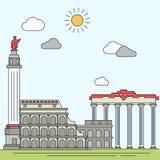 Illustration tirée par la main de vecteur de Rome Images stock