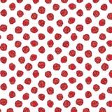 Illustration tirée par la main de vecteur de modèle de rose de rouge Modèle pour le textile, tissu, papier d'emballage Photo libre de droits