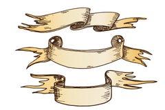 Illustration tirée par la main de vecteur de rubans Photographie stock libre de droits