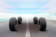 Illustration of tires Royalty Free Stock Photo