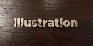 Illustration - titre en bois sale sur l'érable - image courante gratuite de redevance rendue par 3D illustration stock