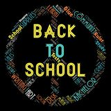 The Words cloud of the Back to school. Illustration to  The Words cloud of the Back to school as background Stock Images