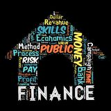 The Words cloud of the FINANCE. Illustration to  The Words cloud of the FINANCE as background Stock Photo