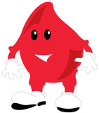 An illustration of a toon blood drop Royalty Free Stock Images