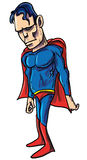 Illustration of a tough powerful superhero Royalty Free Stock Photo