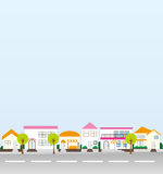 Illustration of the town. Royalty Free Stock Photo