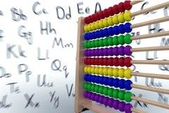 Illustration of toy abacus. On white background royalty free illustration