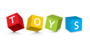 Illustration of toy blocks Stock Photos