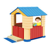 Illustration of toy house. Playground for children. Illustration of toy house Royalty Free Stock Photos
