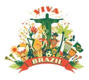 Illustration of traditional Brazilian items Stock Image