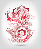 Illustration of Traditional Chinese oriental Dragon Royalty Free Stock Images