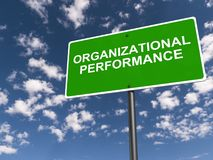 Organizational performance. An illustration of a traffic sign with the words organizational performance royalty free illustration