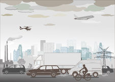 Traffic illustration  Royalty Free Stock Images