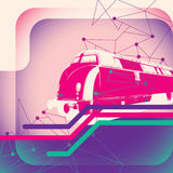 Illustration with train. Stock Photos