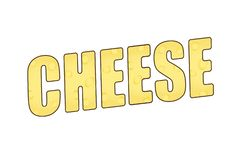 The word cheese with a cheesy texture. 3D illustration. stock illustration