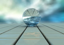 Fin abstraite bleue d'illustration de sphère de ciel Photo libre de droits
