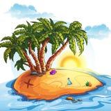 Illustration of Treasure Island Stock Image