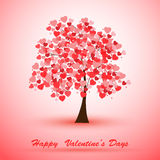 Illustration of a tree covered with hearts Stock Photography