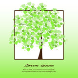 Illustration of a tree covered with hearts Royalty Free Stock Photography