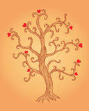Illustration of tree with hearts Stock Images