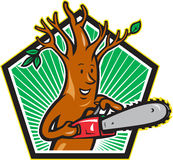 Tree Man Arborist With Chainsaw Royalty Free Stock Image