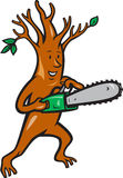 Tree Man Arborist With Chainsaw Royalty Free Stock Photos